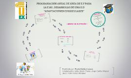 Copy of PROGRAMACIÓN ANUAL DE ÁREA DE E.F PARA LA E.SO , DESARROLLO
