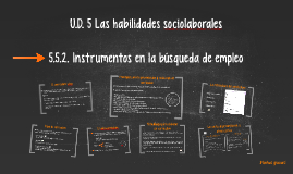 Copy of U.D. 5 Las habilidades sociolaborales