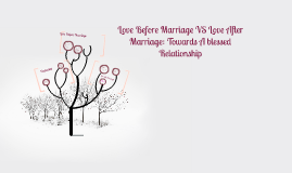 Love Before Marriage VS Love After Marriage: Towards A bless