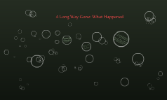A Long Way Gone: What Happened