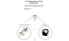 The Neighbourhood Design Health Study