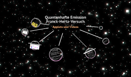 Quantenhafte Emission durch den Franck-Hertz-Versuch