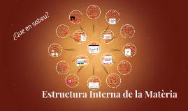 Estructura Interna de la Matèria