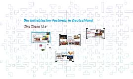 Die beliebtesten Festivals in Deutschland