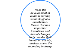Trace the development of audio recording technology and dist