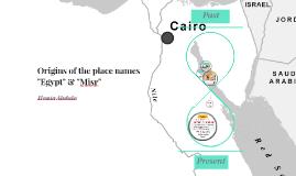 "Origin of the name ""Egypt"" vs ""Misr"""