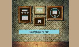 Pledging Kappa Psi 2013