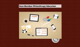 New Member Philanthropy Education