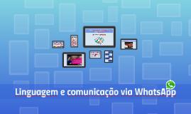 Linguagem e comunicação via WhatsApp