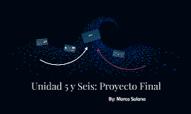 Unidad 5 y Seis: Proyecto Final
