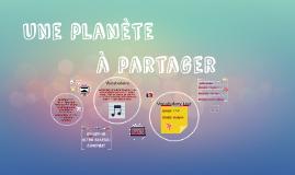 Une planète à partager