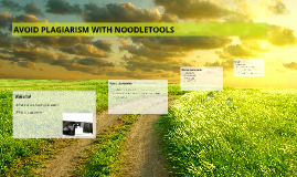 AVOID PLAGIARISM WITH NOODLETOOLS