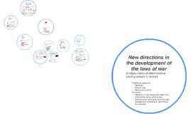 New directions in the development of the laws of war