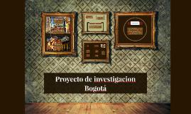 Proyecto de investigacion Bogotá