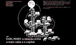 KARL MARX: a relação entre mais-valia e capital