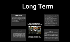Long-Term (Acute) Effects of Exercise (P1, P2)