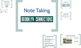 Coney Island - Observations &Note Card Method