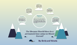 The Sherpas: Should there be a permanent base camp on Mount