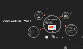 Debate Workshop - Week 1
