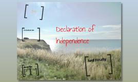 declaration of Idependence
