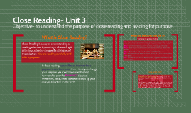 Close Reading- The Ins and Outs