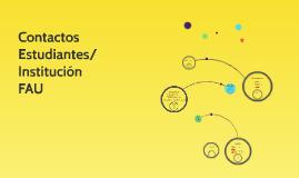 Contactos Estudiantes/Institución