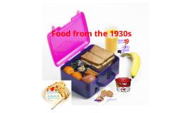 1930 food.