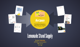 Lemonade Stand Supply