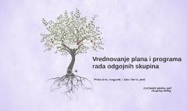 Vrednovanje plana i programa rada odgojnih skupina