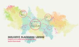Inclusive classroom lesson