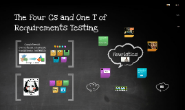 The Four Cs and One T of Requirements Testing