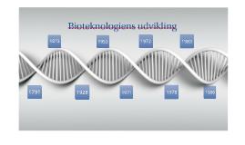 Copy of Bioteknologiens udvikling