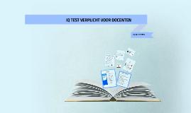 IQ TEST VERPLICHT VOOR DOCENTEN