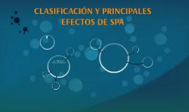 CLASIFICACIÓN Y PRINCIPALES EFECTOS