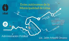 Entes autónomos de la Municipalidad de Lima