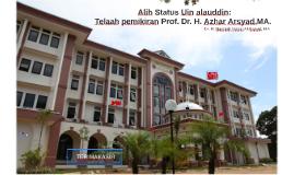 Alih stAtus Uin alauddin: