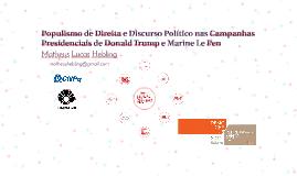 Populismo de Direita e Discurso Político nas Campanhas