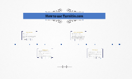 How to use Turnitin.com
