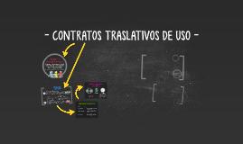 CONTRATOS TRASLATIVOS DE USO