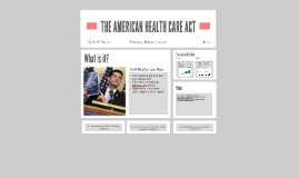 Americal Health Care Act