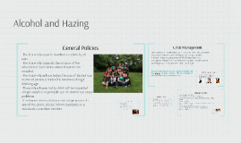 Alcohol and Hazing
