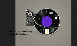 Que son las variables y tipos de Variables