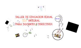 Copy of Taller de E.S.I  Docentes y Directivos.