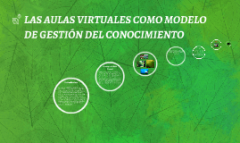 LAS AULAS VIRTUALES COMO MODELO DE GESTIÓN DEL CONOCIMIENTO