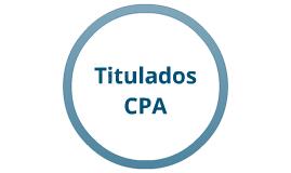Titulados CPA