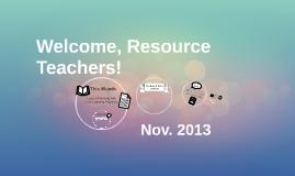 November 2013 RT Meeting