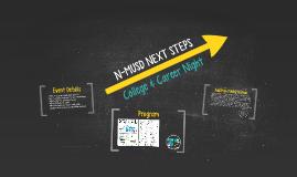 N-MUSD NEXT STEPS