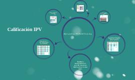 Copy of CALIFICACIÓN IPV