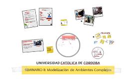 Seminario II - Modelización de Ambientes Complejos