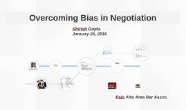 Overcoming Bias in Negotiations